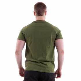 T-Shirt Keotica STD Strength Required Godblessed 100% Cotton Olive White