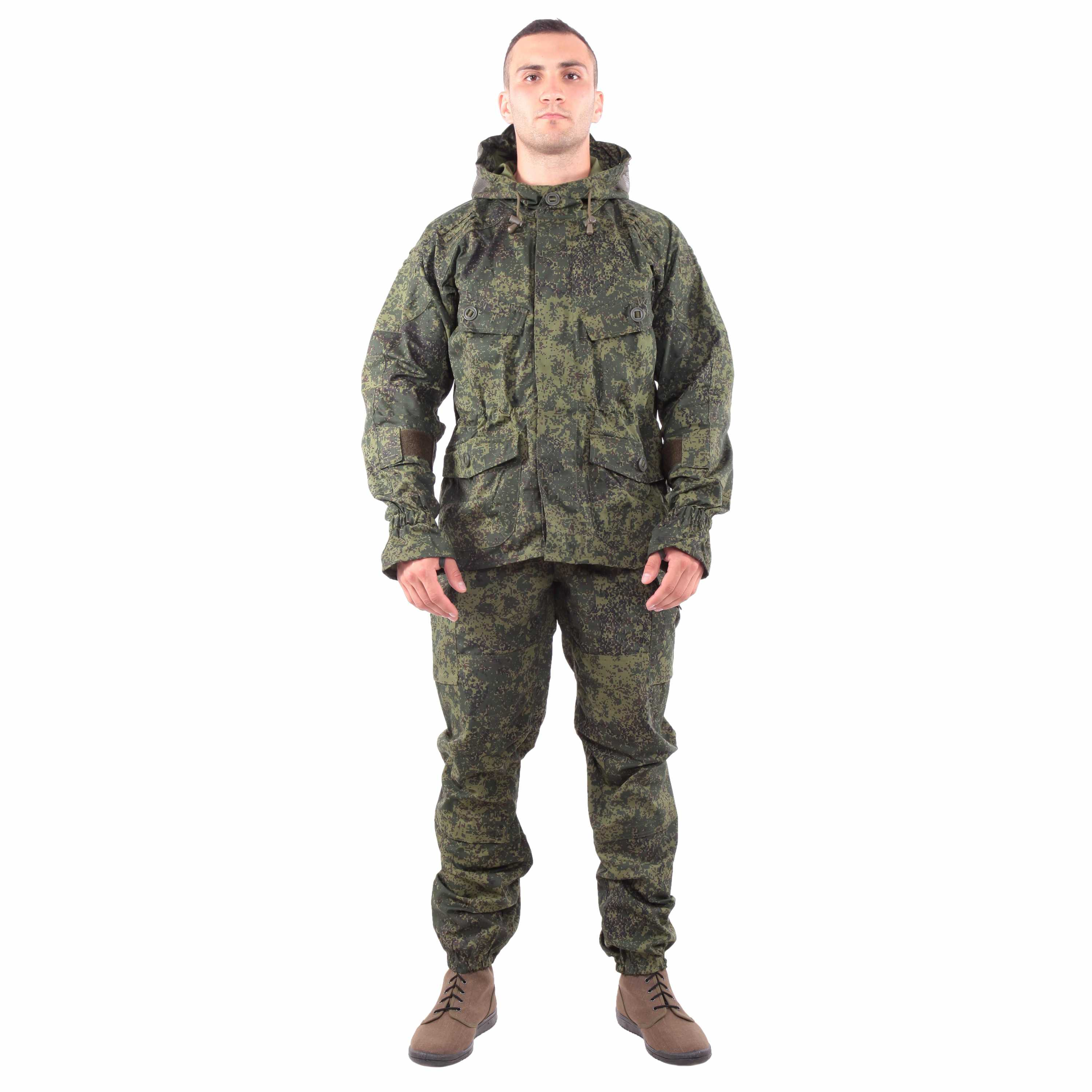 Suit KE Tactical Snayper-2 Rip-stop with Elbow and Knee Pads Digi Flora